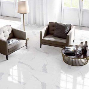 Tuscany Bianco Polished Marble Look Porcelain Tiles