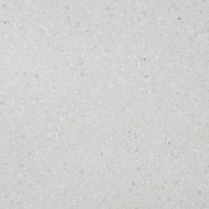 Venezia White Terrazzo Look Rectified Polished Porcelain Floor Tile (#6341)