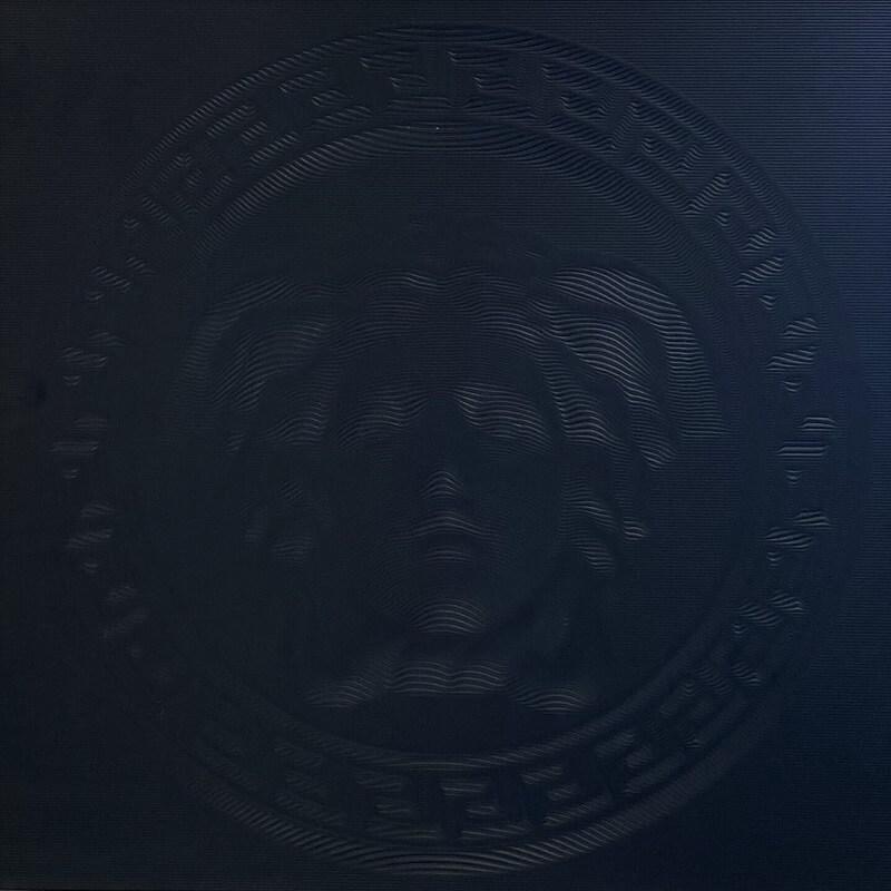 Versace Ceramics Eterno Black 3D Medusa Porcelain Decor Tile 3518